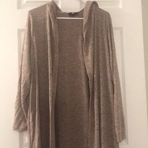 Hooded duster jacket